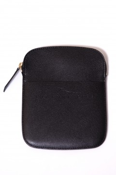 Passport holder in black leather